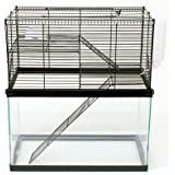 Ware Small Animal High Rise. Tank Topper. Hamster Cage, Mice Cage, Gerbil Cage Measures 19-1/2-inch width by 11-inch depth by 10-1/2-inch height