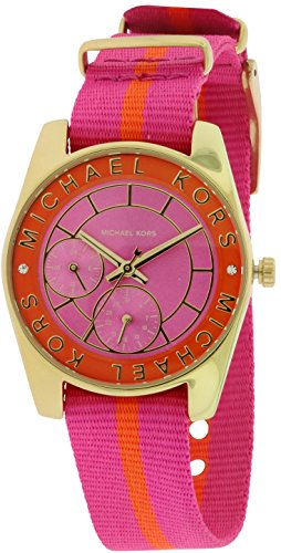 mk watches pink dial - 3