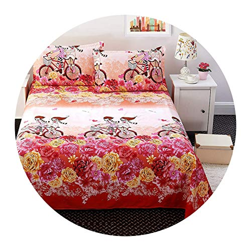 Classic 200tc Cotton - Classic Floral Bed Flat Sheet 100% Polyester Bed Sheet Set Child Kids Adults Twin Full Queen Bedspread Mattress Protector Cover,No-10,Full(3pcs)