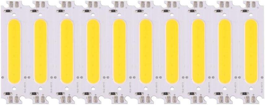 Chip LED, 10 unidades, 12 V, 2 W, de alta potencia, ahorro de energía, bombilla COB de chip, fuente de lámpara, compatible con lámparas de bricolaje LED, lámparas de coche, lámparas de iluminación