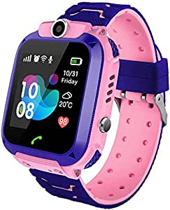 Kids Smart Watch Phone, Smartwatch IP67 Waterproof Built-in Camera Watch Anti-Lost SOS GPS Watch for Children 3-12 Years Girls