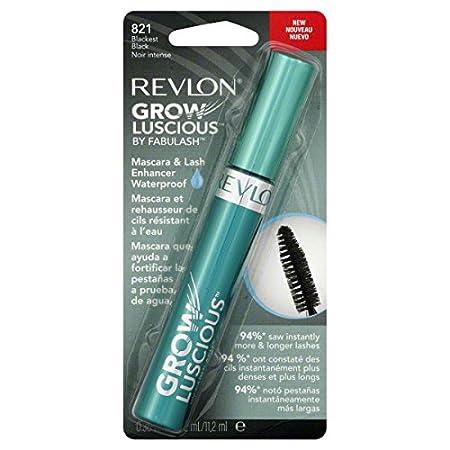 Amazon.com: Revlon Grow Luscious Plumping Mascara, 001 / 821 Blackest Black (Pack of 4): Beauty