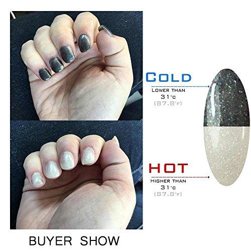 Gellen Soak Off UV LED Gel Nail Polish, Color Changing Temperature Series, (1 piece 10ml) Color #72 (Slate Number Single)