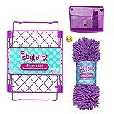 School Locker Organizer Kit - Accessories and Decoration Set with Shelf, Rug and Bin (Purple)