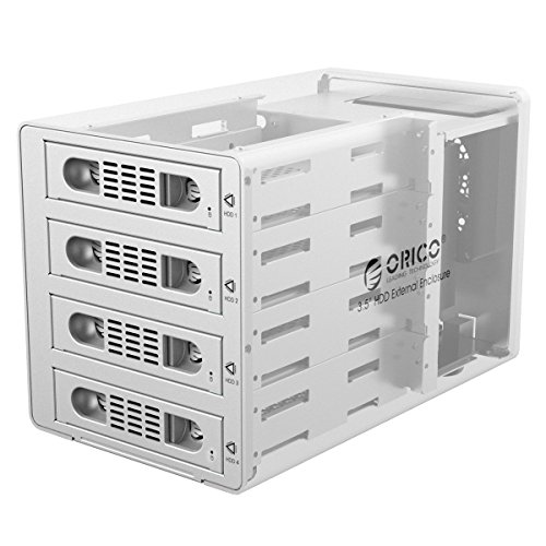 ORICO Aluminum 4 Bay 3.5 inch Hard Disk Drive Case HDD RAID Enclosure ,USB 3.0 & eSATA Support UASP and SATA III 6.0Gbps Speed (3549RUS3) by ORICO (Image #5)