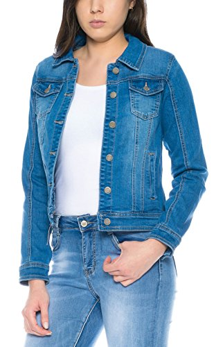 Simply a Stretch Chaqueta XL Vaquera S Chaqueta Chic Mujer 1 Jacket Talla Denim Casual Uqvr6Uw