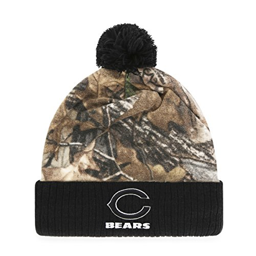 - NFL Chicago Bears Adult NFL Greyson Ots Cuff Knit Cap with Pom, One Size, Realtree