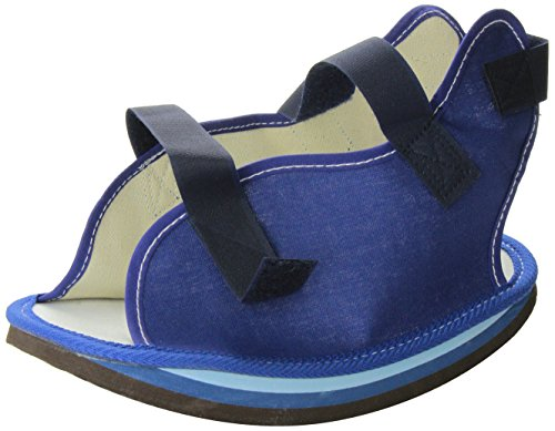 DMI Canvas Rocker Bottom Cast Shoe Post-Op Shoe, Medium, Blue ()