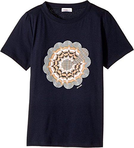 Missoni Kids Girl's Greca Print T-Shirt (Big Kids) White 12 / 13 by Missoni Kids