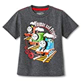 "Thomas the Train Toddler Little Boys ""Thomas and Friends"" Grey T-Shirt"