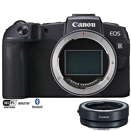 Canon EOS RP Mirrorless Camera 26.2MP Portable Full Frame Body Only 3380C002 with Lens Mount Adapter EF-EOS R Adapts EF and EF-S Lenses to EOS R