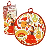 "Tortilla Warmer 10""- Insulated, Microwaveable Fabric Pouch by Cameron's Products- Keeps Tortillas Heated for up to One Hour (Fiesta Design)"