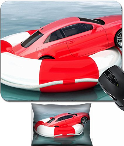 MSD Mouse Wrist Rest and Small Mousepad Set, 2pc Wrist Support design 24062074 llec Car savings or vehicle insurance protection concept Vehicle on a life preserver