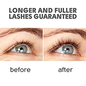 Natural Eyelash Growth Serum - Lash Booster & Eyebrow Enhancing Serum to Grow Thicker, Longer Lashes - USA-Made Eyelash Conditioner & Enhancer