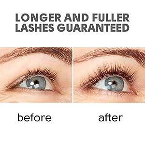 Natural Eyelash Growth Serum - Lash Booster & Eyebrow Enhancing Serum to Grow Thicker, Longer Lashes - USA-Made Eyelash Conditioner & Enhancer
