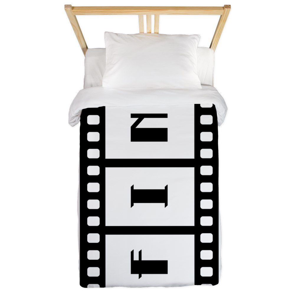 Twin Duvet Cover FIN: Old Hollywood Movie Ending