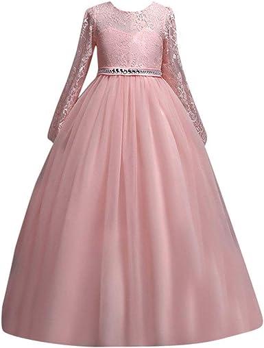 POLP Niña Vestido Princesa Disfraz Vestido de Novia Vestir Vestido ...