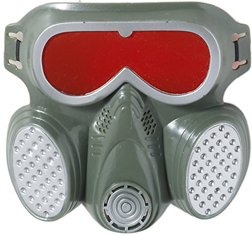 Adult Biohazard Zombie Grey Red Halloween Costume Gas Mask (Ebola Halloween Costume For Women)