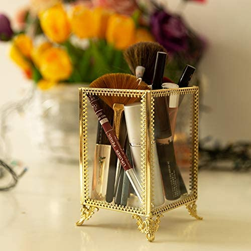 VINCIGANT - Organizador de brochas de Maquillaje de Cristal para ...