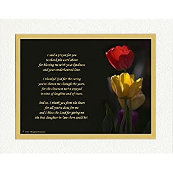 red yellow tulips photo 8x10 double matted special birthday gifts thank you gift or christmas gift for daughter in law