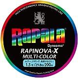 Rapala(ラパラ) PEライン ラピノヴァX マルチカラー 200m 1.5号 29.8lb マルチカラー RXC200M15MC