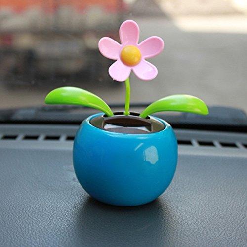 Solar Powered Dancing Flower, Transer Swinging Animated Dancer Toy Car Decoration