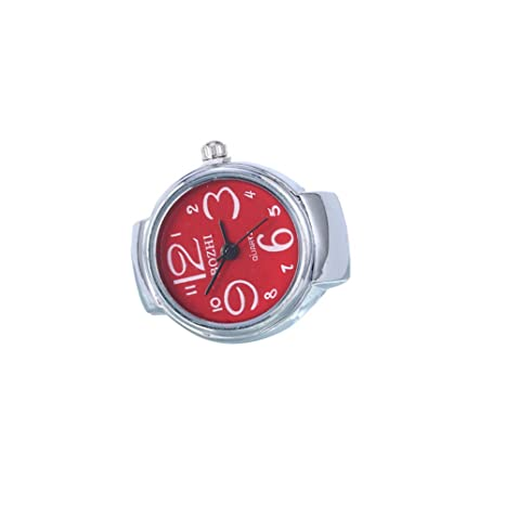 swall owuk Big Digital Anillo Reloj, plata flor Student Relojes