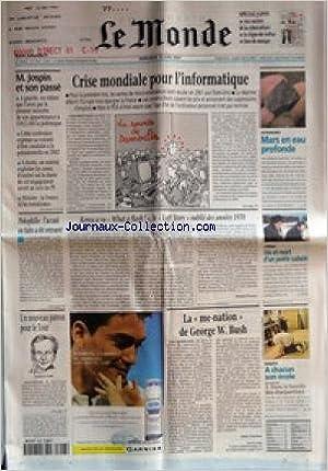 MONDE (LE) [No 17537] du 13/06/2001 - M. JOSPIN ET SON PASSE +ΠCRISE MONDIALE POUR L'INFORMATIQUE +ΠASTRONOMIE - MARS EN EAU PROFONDE +ΠPEDOPHILIE - L'ACCUSE EN FUITE A ETE RETROUVE +ΠKENZA A VU WHAT A FLASH ! , LE LOFT STORY OUBLIE DES ANNEES 1970 PA