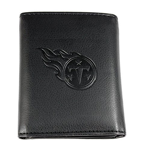 NFL Tennessee Titans Embossed Tri-Fold Wallet, Black