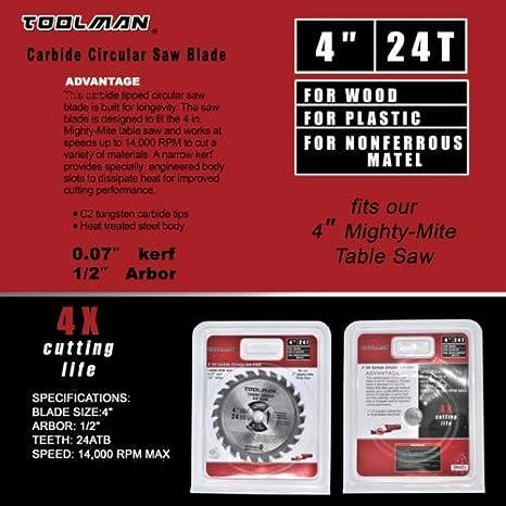 Toolman Circular Saw Blade Universal Fit 4