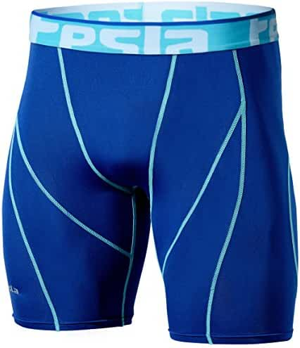 Tesla Men's Compression Shorts Baselayer Cool Dry Sports Tights S17