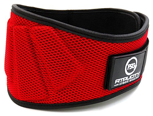Weight Lifting Belt by Fitplicity, For Weightlifting, CrossFit, Olympic Lifting, Powerlifting, Squat and Deadlifts, 6 Inch Back Support for Men and Women