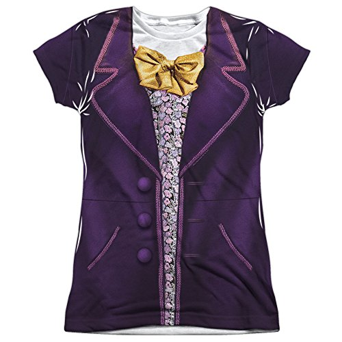 [Willy Wonka & The Chocolate Factory Wonka Costume Juniors T-Shirt Small] (Child Willy Wonka Costumes)