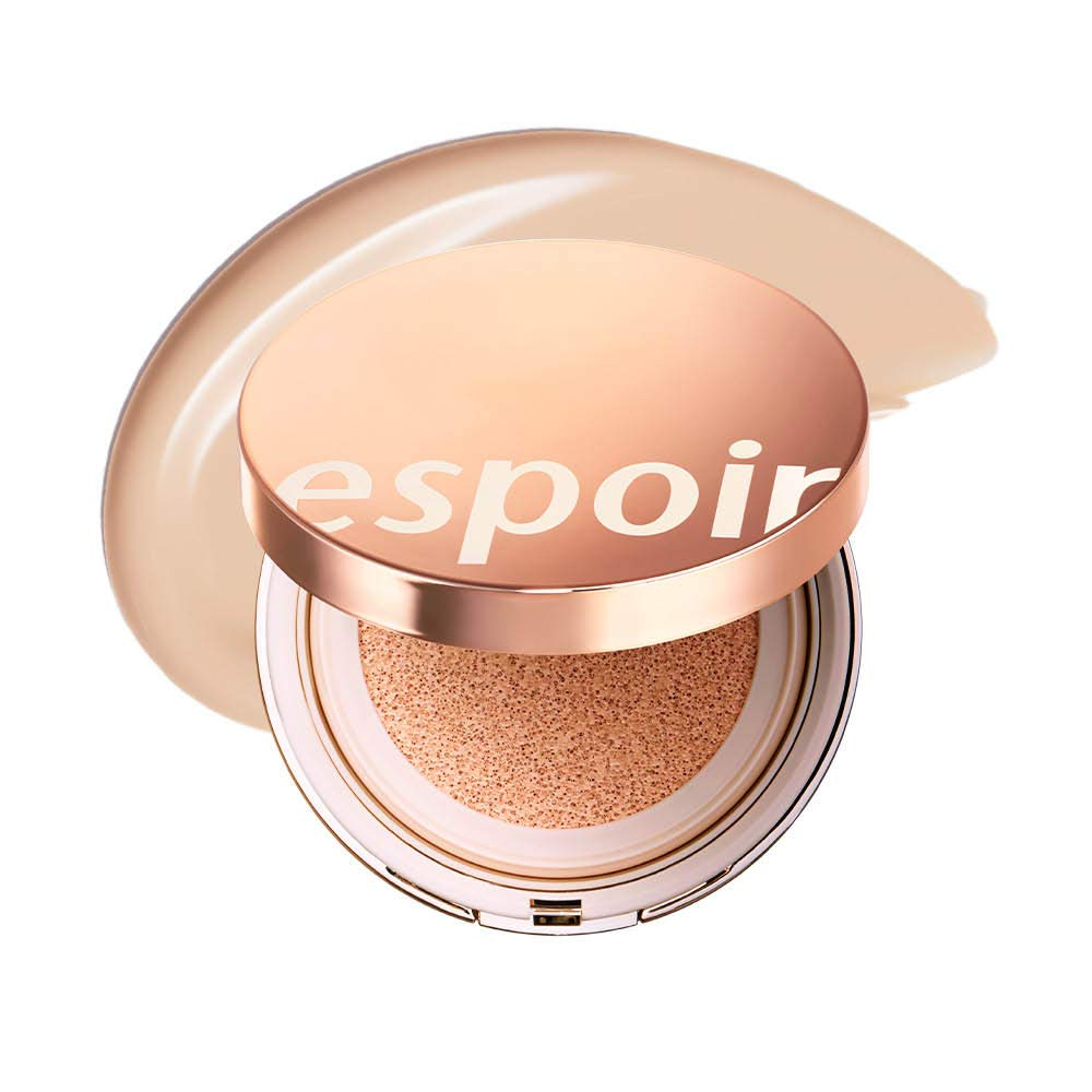 ESPOIR Pro Tailor Be Glow Cushion SPF42 PA++ #3 Petal (13g + refill 13g) | Natural Cover and Fresh Radiance for an All Day Bright Lasting Effect | Korean Makeup