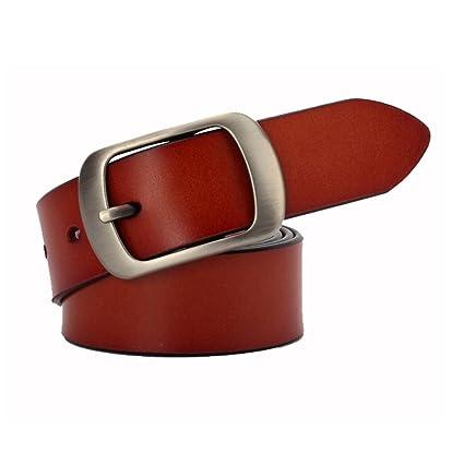 Styhatbag Cinturón de Mujer para Mujer Cinturón de Cuero Ancho y Suave para  Pantalones Cortos de 88ad3b243e99