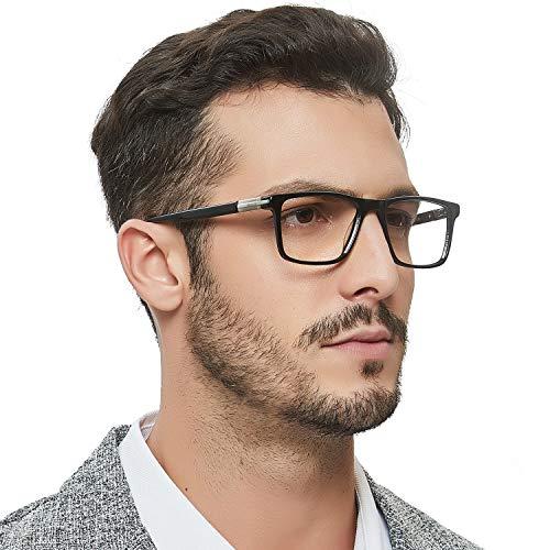 - OCCI CHIARI Optical Men's Eyewear Classic Non-prescription Eyeglasses Frame with Clear Lenses(Black)