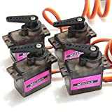 LeaningTech 4pcs MG90S Micro Metal Gear High Speed 9g Servo for RC Helicopter Plane Car Boat