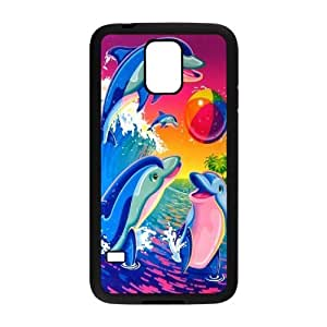 JamesBagg Phone case Love dolphins,cute dolphin pattern For Samsung Galaxy S5 FHYY440683