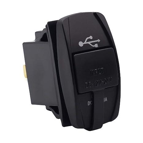 Zócalo Universal del Cargador USB del Coche con el zócalo de Poder del Adaptador Dual de la Carga del teléfono del USB Ligero para el Panel del ...