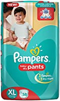 Pampers Extra Large Size Pants Diapers, 58 Pieces