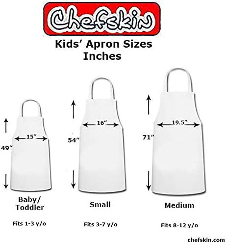 Hat Chef Costume Small Fits Children Kids 2-8 New The Best Party Favor CHEFSKIN Kelly Green Set Apron