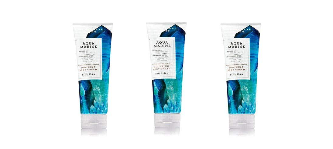 Bath & Body Works Aquamarine Soothing Body Cream - Lot of 3