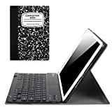 Fintie iPad 9.7 2018 / 2017 / iPad Air 2 / iPad Air Keyboard Case - Slim Shell Stand Cover w/ Magnetically Detachable Wireless Bluetooth Keyboard for iPad 6th / 5th Gen, iPad Air 1 / 2, Composition Book Black
