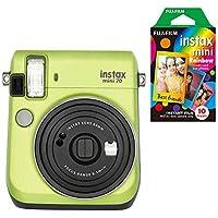 Fujifilm Instax Mini 70 Instant Still Camera with 10 Rainbow Film Sheets Starter Bundle (Kiwi Green)