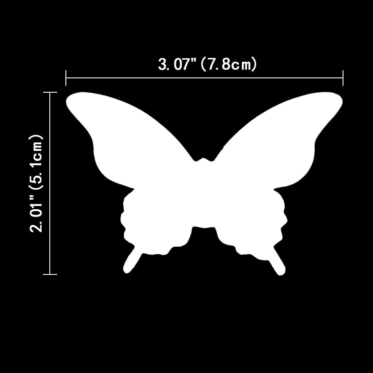 Luxbon 100pcs Carton 3D Papillon Autocollant Bricolage avec Collant Double-Face Blanc