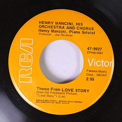 Henry Mancini 45 RPM Them From Love Story / Phone Call To The Past (Phone Call P To)