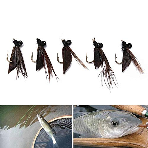 Caddis Tent - Fishing-Accessories - 5PCS Elk Hair Caddis Fly Trout Fishing Dry Flies Fly Fishing Lures Bait Fishing Accessories