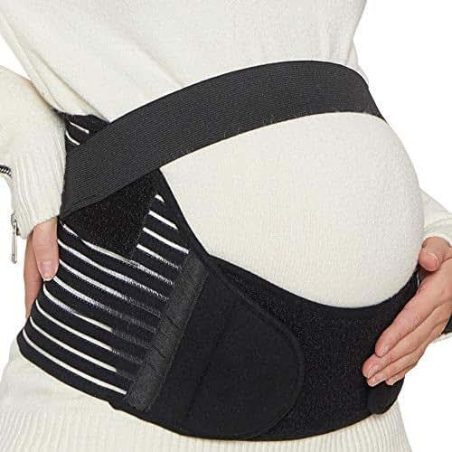 NEOtech Care Maternity Belt - Pregnancy Support - Waist/Back/Abdomen Band, Belly Brace (Black, Size M)