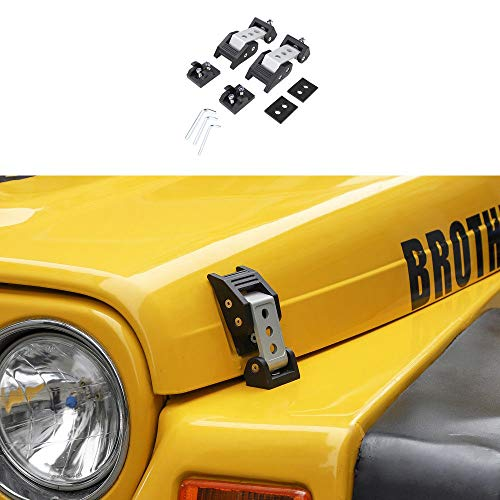 RT-TCZ for Jeep Engine Hood Latches Catch Hood Lock for 1997-2006 Jeep Wrangler ()