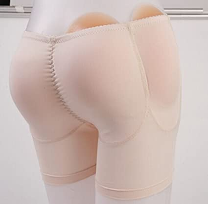 5c29f46f11f45 ewinever(TM) 1pcs Silicone Padded Panties Shapewear Bum Butt Hip Enhancing  Underwear Crossdresser Padded Panties For Butt Enlargement (S)   Amazon.co.uk  ...